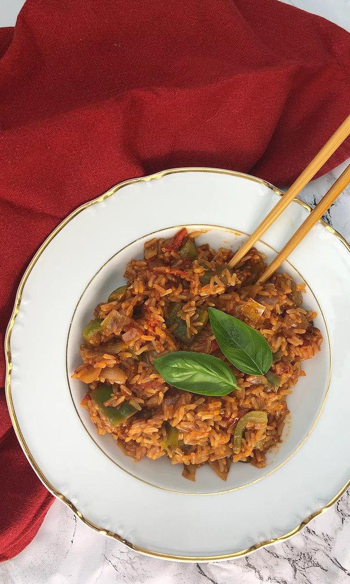 Tomato & oregano fried rice