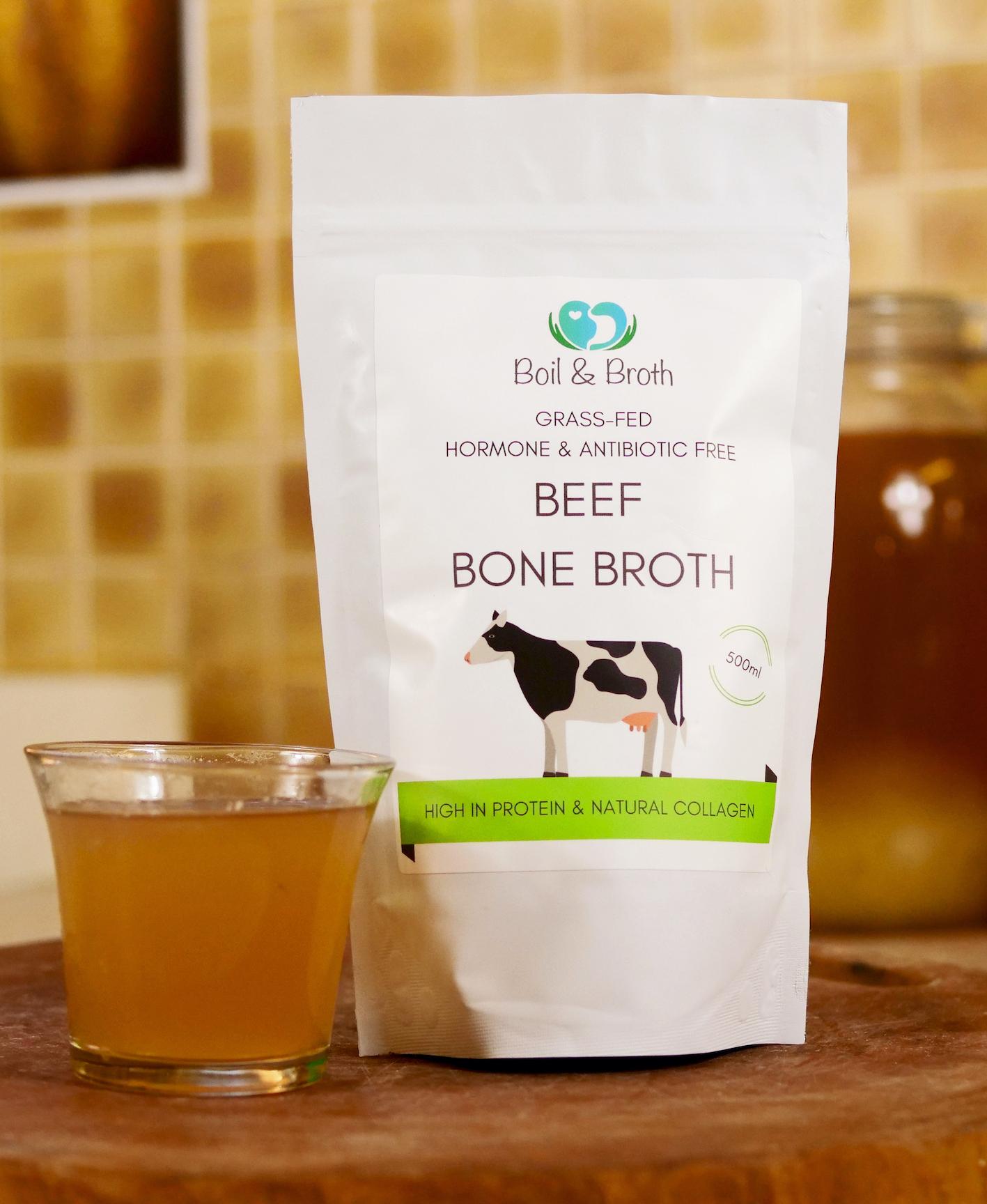 Beef Bone Broth Boil and Broth