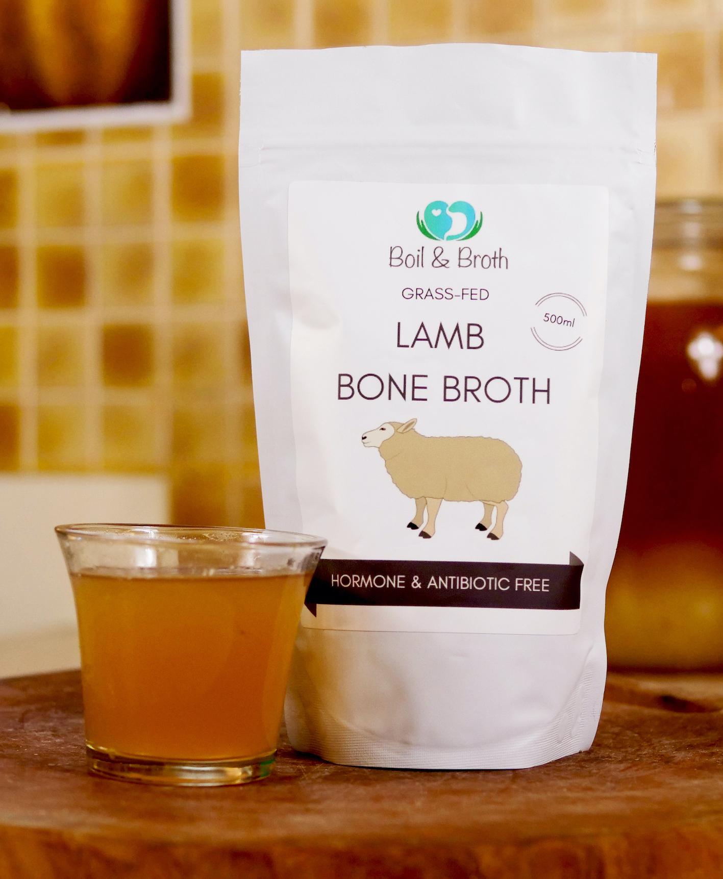 Lamb Bone Broth Boil and Broth